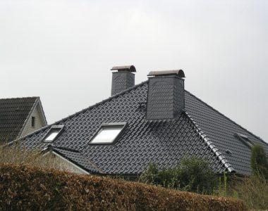 Bild 069 – Spanischer Dachschiefer Schuppendeckung Schornsteinkopf
