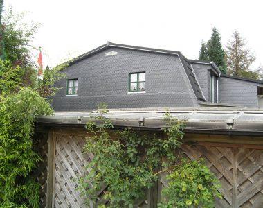 Bild 071 – Spanischer Dachschiefer Schuppendeckung Wand