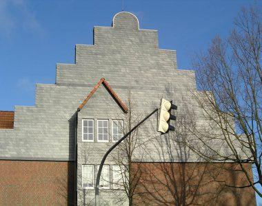 Bild 072 – Spanischer Dachschiefer Schuppendeckung Wand