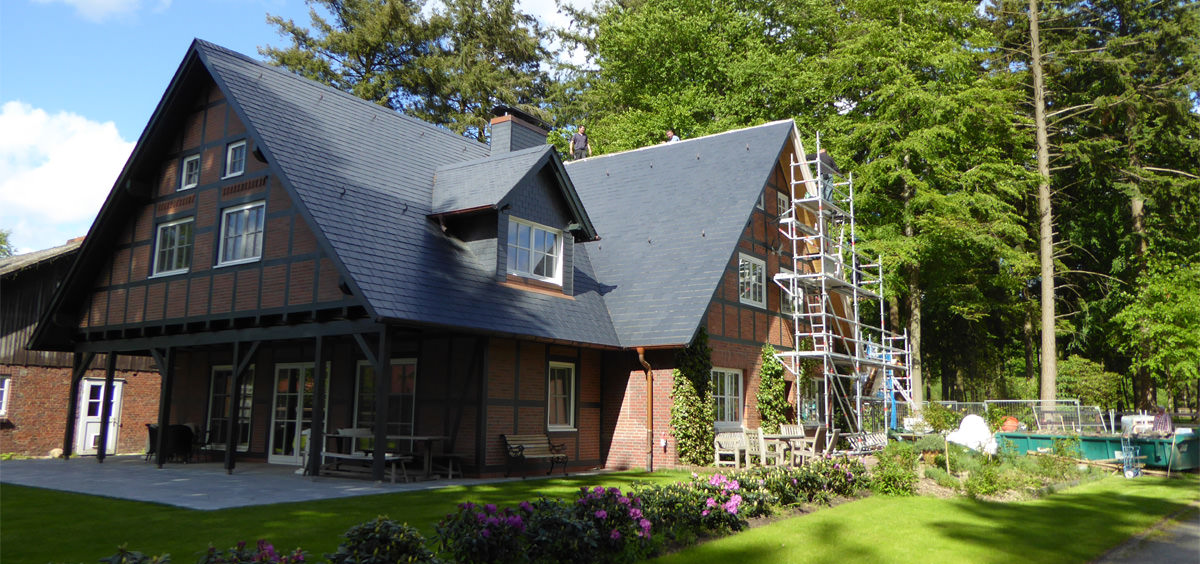 Spanischer Dachschiefer Rechteckdoppeldeckung